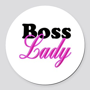 Boss Lady Round Car Magnet