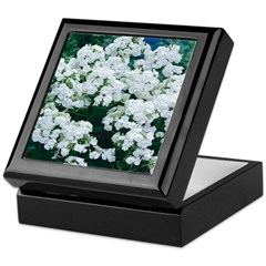 Phlox White Keepsake Box