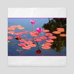 water lily, garden pond photo Queen Duvet