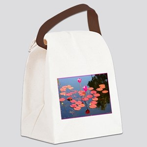 water lily, garden pond photo Canvas Lunch Bag