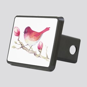 Pink Sparrow Bird on Magno Rectangular Hitch Cover