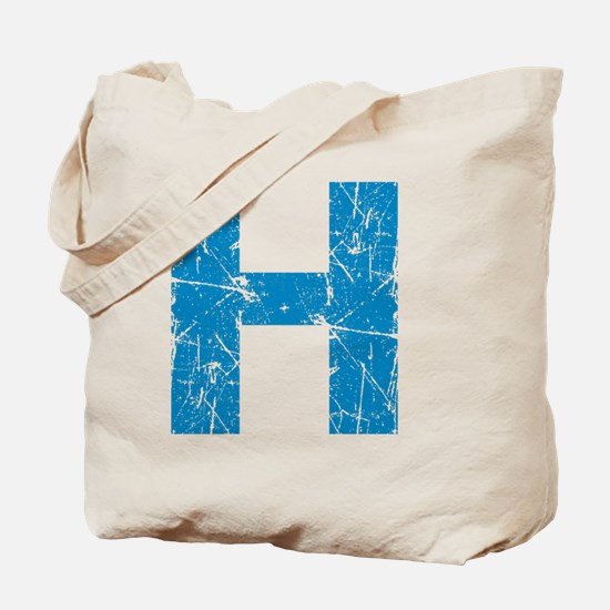 H (Blue) Tote Bag