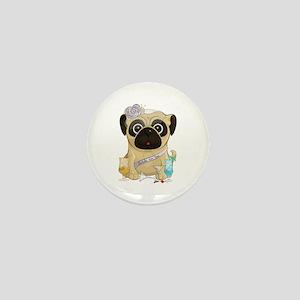Bachelorette Pug Mini Button