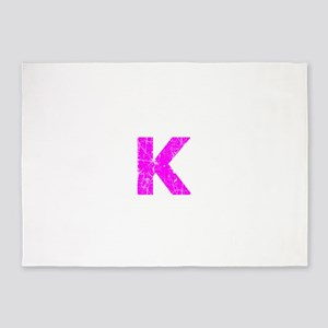 K (Pink) 5'x7'Area Rug