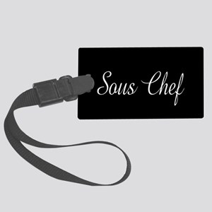 Culinary: Sous Chef (Cursive) Large Luggage Tag