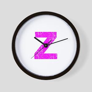 Z (Pink) Wall Clock
