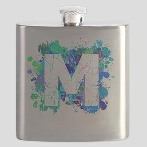 M (Ink Spots) (Blue) Flask
