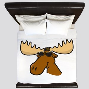 Moose With Sunglasses King Duvet