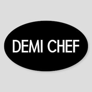 Culinary: Demi Chef Sticker (Oval)