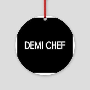 Culinary: Demi Chef Round Ornament