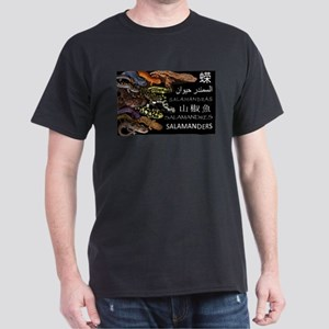 Salamander Collage Dark T-Shirt