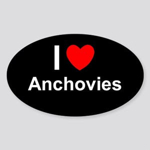 Anchovies Sticker (Oval)