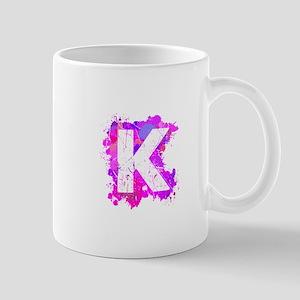 K (Ink Spots) (Pink) Mugs