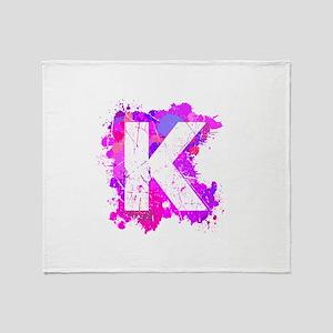 K (Ink Spots) (Pink) Throw Blanket