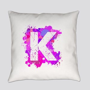 K (Ink Spots) (Pink) Everyday Pillow