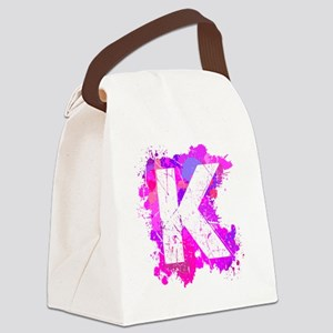 K (Ink Spots) (Pink) Canvas Lunch Bag