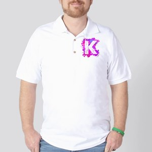 K (Ink Spots) (Pink) Golf Shirt