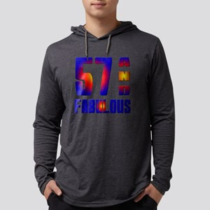 57 And Fabulous Birthday Designs Mens Hooded Shirt