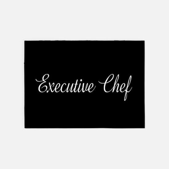 Culinary: Executive Chef (Cursive) 5'x7'Area Rug