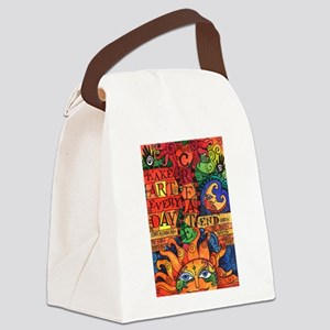 Create Art Every Day Canvas Lunch Bag