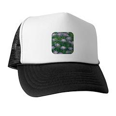 Scabiosa Blue Trucker Hat
