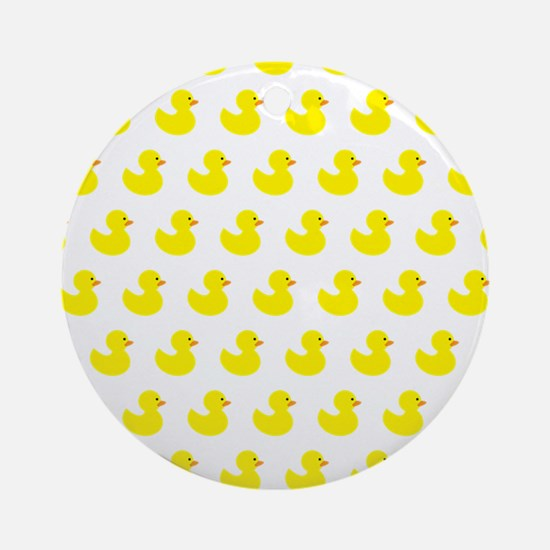 Rubber Ducky Pattern Round Ornament