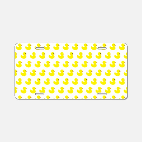 Rubber Ducky Pattern Aluminum License Plate