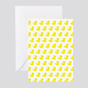 Rubber Ducky Pattern Greeting Cards