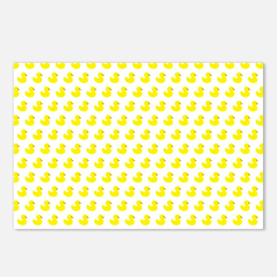 Rubber Ducky Pattern Postcards (Package of 8)