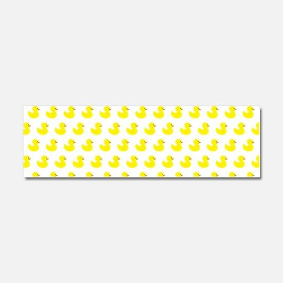 Rubber Ducky Pattern Car Magnet 10 x 3