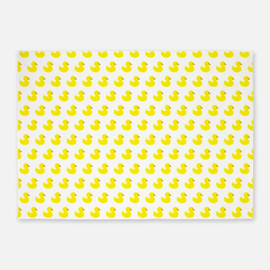 Rubber Ducky Pattern 5'x7'Area Rug