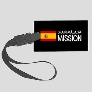 Spain, Málaga Mission (Flag) Large Luggage Tag