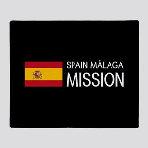 Spain, Málaga Mission (Flag) Throw Blanket
