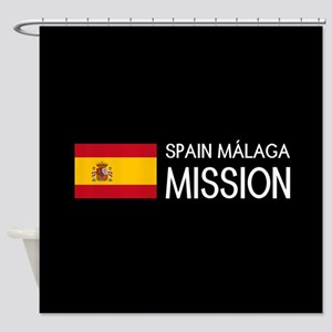 Spain, Málaga Mission (Flag) Shower Curtain