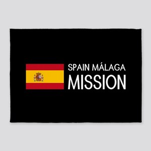 Spain, Málaga Mission (Flag) 5'x7'Area Rug
