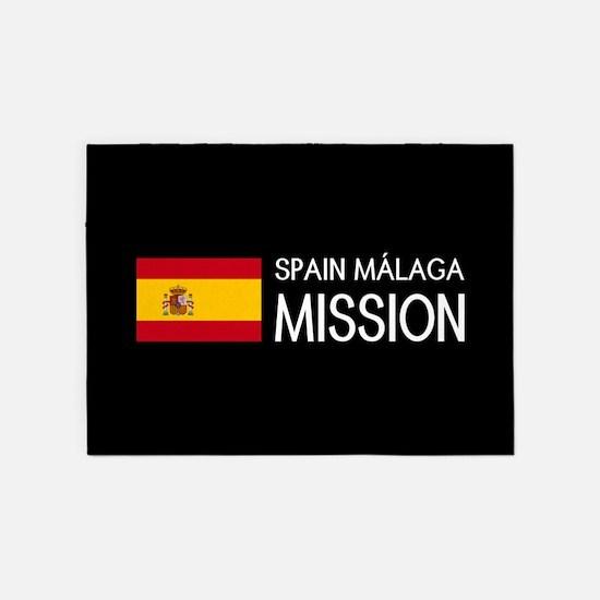 Spain, Málaga Mission (Flag) 5'x7'Area Rug