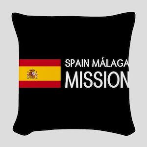 Spain, Málaga Mission (Flag) Woven Throw Pillow