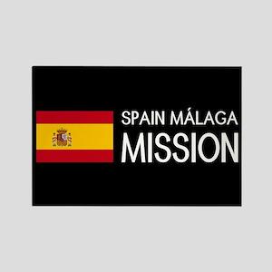 Spain, Málaga Mission (Flag) Rectangle Magnet