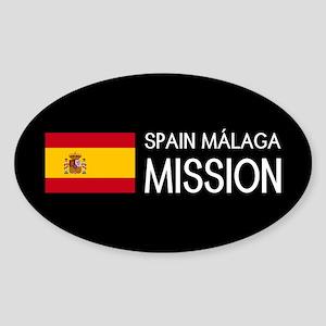 Spain, Málaga Mission (Flag) Sticker (Oval)