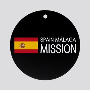 Spain, Málaga Mission (Flag) Round Ornament