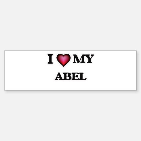 I love Abel Bumper Bumper Bumper Sticker