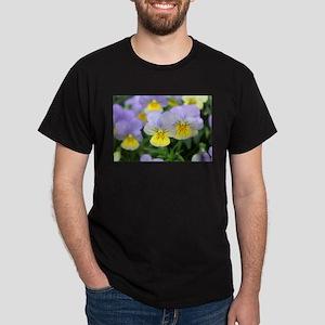 yellow purple pansy flower T-Shirt