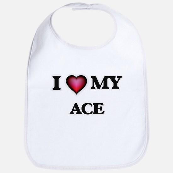 I love Ace Baby Bib
