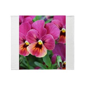Pansies blankets cafepress mightylinksfo