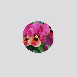 European Garden Pink Pansy Flower Mini Button