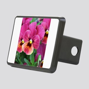 European Garden Pink Pansy Flower Hitch Cover