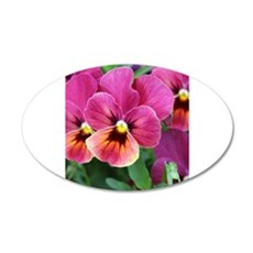 European Garden Pink Pansy Flower Wall Decal