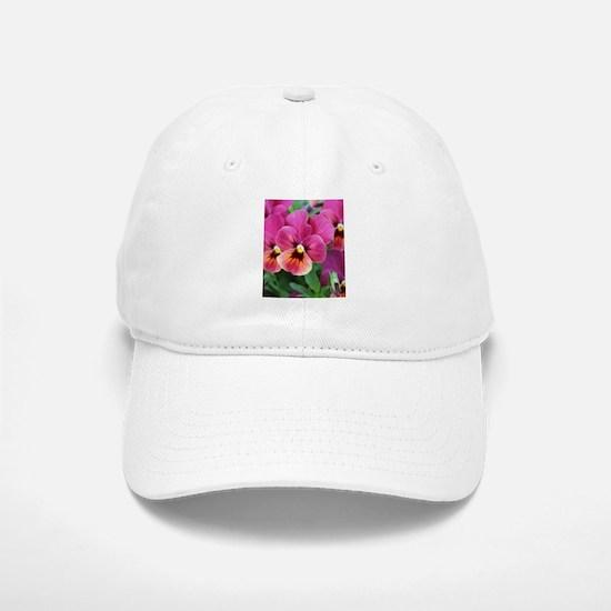 European Garden Pink Pansy Flower Baseball Baseball Baseball Cap