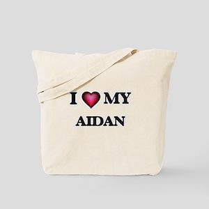 I love Aidan Tote Bag