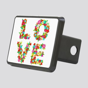 floral love Rectangular Hitch Cover